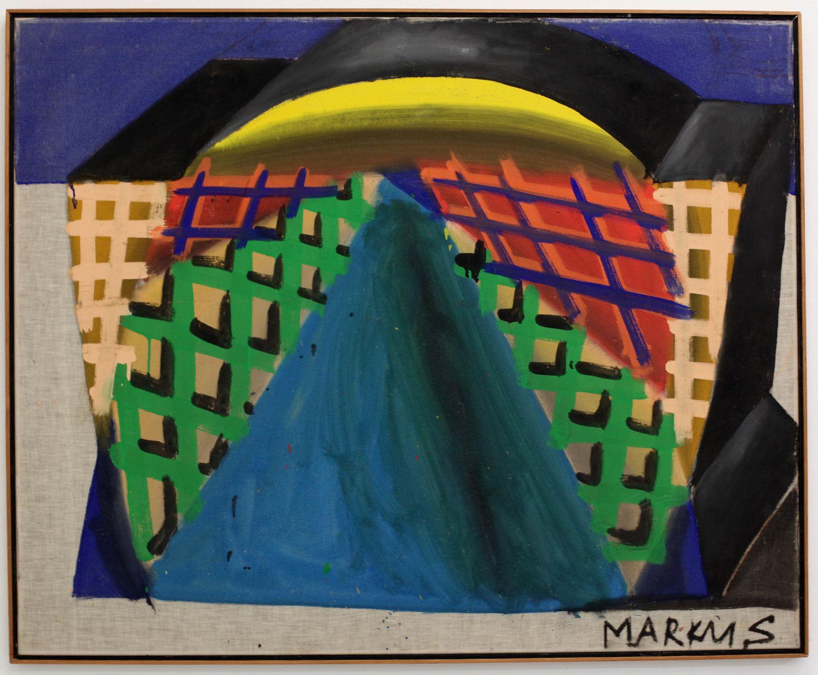 """""""Aus der kleiner Strabe"""", 1964 de Markus LÜPERTZ - Courtesy de l'artiste et de la  Galerie Suzanne Tarasiève © Photo Éric Simon"""