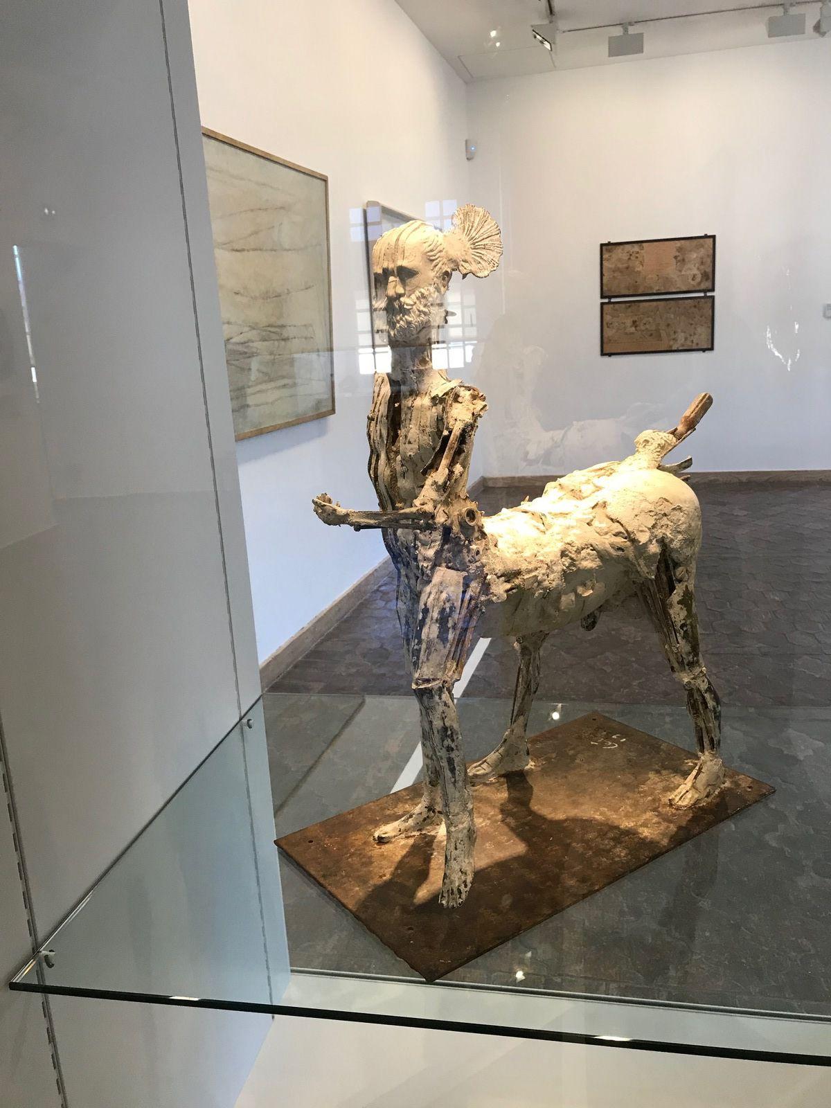 Le Centaure - Hommage à Picasso – (1983) – Sculpture – Bronze, plâtre, matériaux divers et socle en fer - César