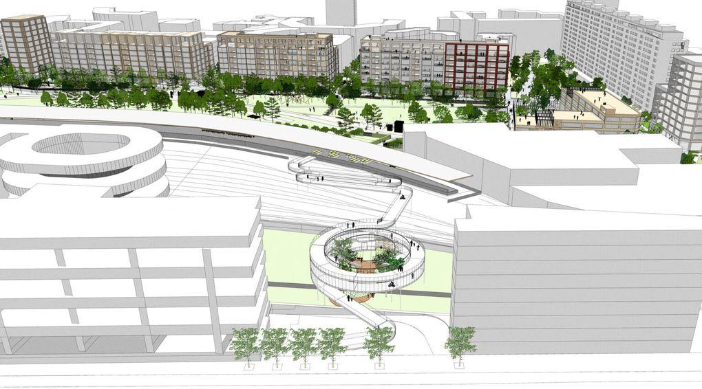 Chapelle Charbon : visuels provisoires d'architecte  -  Agence BASE