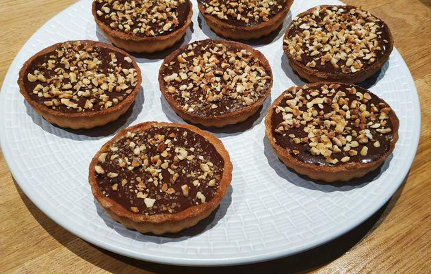 Tartelettes caramel beurre salé chocolat