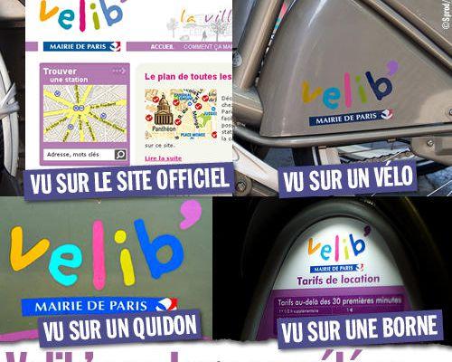 Vélib' : un logo caméléon...