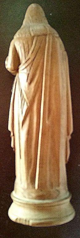 Statue en bois sculpté Sacré-Coeur de Jésus