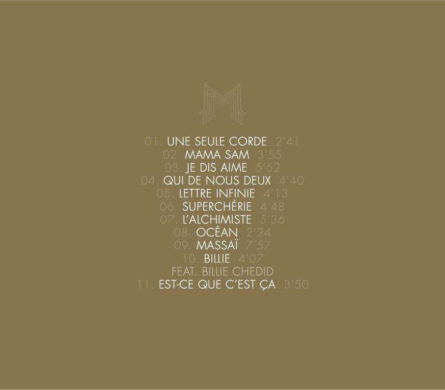 CD Digibook du Grand Petit concert de Matthieu Chedid -M-