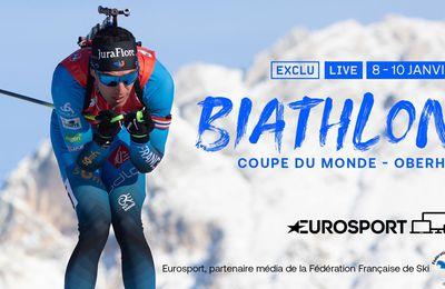 La Coupe du monde de Biathlon à Oberhof en direct ce dimanche sur la chaine l'Equipe et Eurosport !