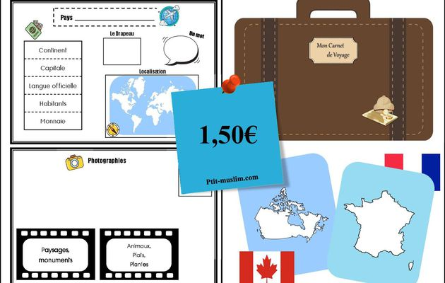 Lapbook Tour du Monde