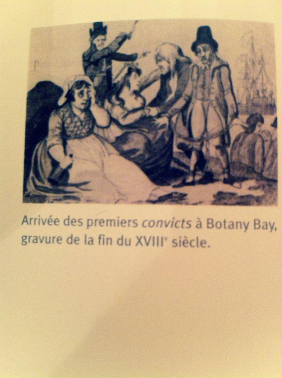 Convicts (Forçats) à Botany Bay, détail de carte.