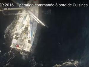 VIDEO Transat AG2R - opération commando à bord de Cuisines Ixina