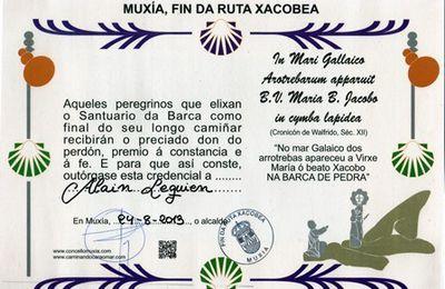 Remise du Muxiana à Muxia (Galice)
