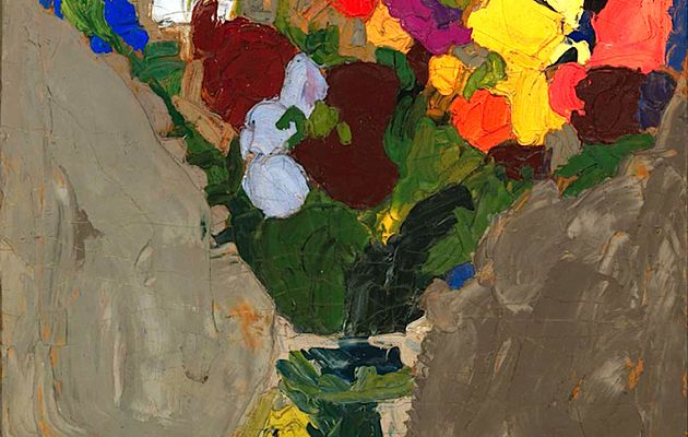 William H. Johnson (1901-1970) : fleurs et autoportrait