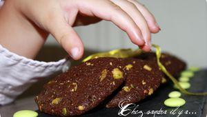 Cookies pistache et cacao