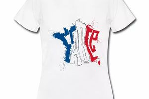 T shirt bleu blanc rouge France sur Carte tricolore FBL