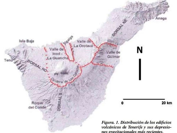 Major landslides on the island of Tenerife / Canary Islands - Doc AVCAN - one click to enlarge