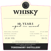 Tobermory 10Y by 3006 - Passion du Whisky