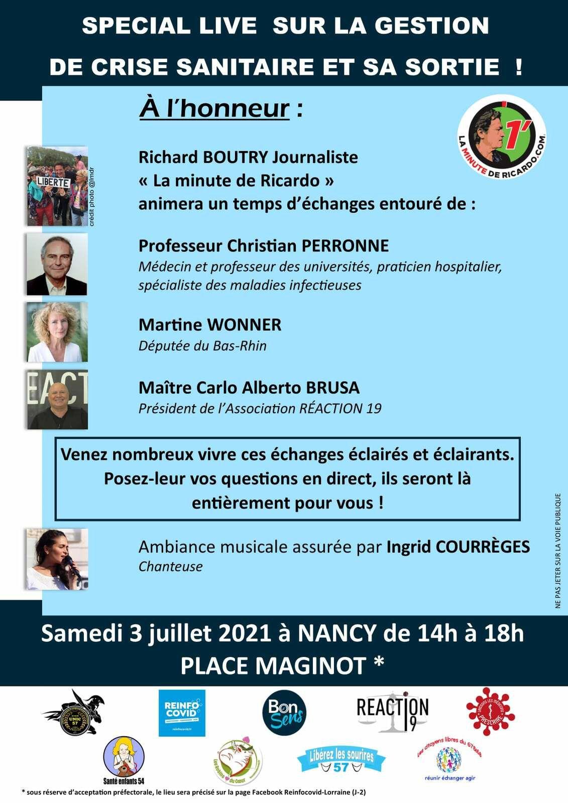 Agenda coup de cœur Fin Juin 2021 , concerts, spectacles, expositions et sorties : Metz et Nancy