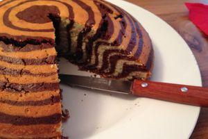Gâteau zébré vanille et chocolat
