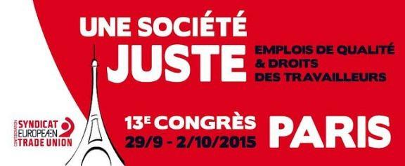 Lancement du congrès de la Confédération Européenne des Syndicats
