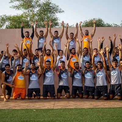 Puneri Paltan players Celebrates International Yoga Day