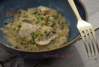 Risotto de quinoa, gorgonzola et poulet