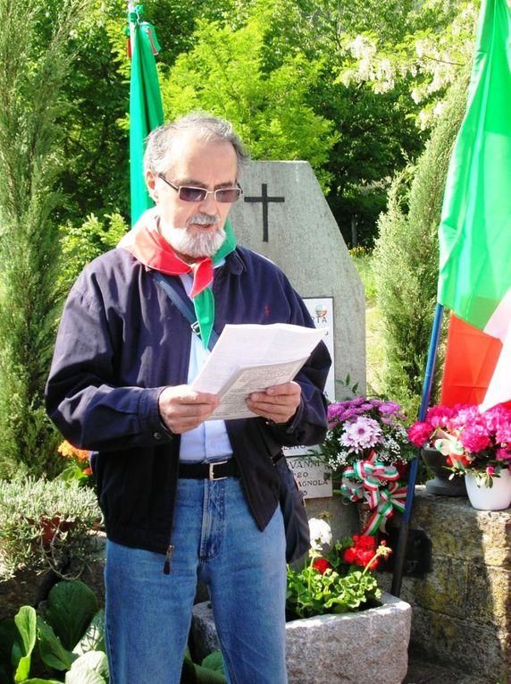 8 maggio 2011: a Coldimosso, frazione di Susa (TO), in ricordo del diciottenne lissonese Ercole Galimberti, fucilato per rappresaglia dai nazifascisti, il 9 marzo 1945