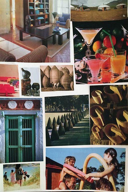 Nanou Casas, peinture, collage avant la peinture, et réinterprétation libre sur fond de transferts.