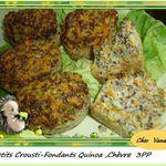 Petits crousti-fondant quinoa chèvre