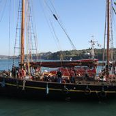 Nordlys- the world's oldest cargo sailing vessel hit by fishing boat (Photo report)