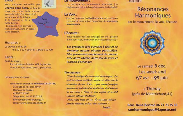 Ateliers Résonances Harmoniques avec René BERTRON