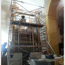 Castellane  :  Restauration du retable de l'église Saint Victor