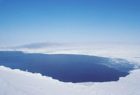 Images satellites de la polynie observée depuis septembre / Photo de polynie dans l'Arctique