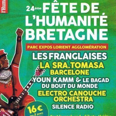 la Fête de l'Huma Bretagne: Parc des Expositions de Lanester ( 56 ) les 28 et 29 novembre 2015