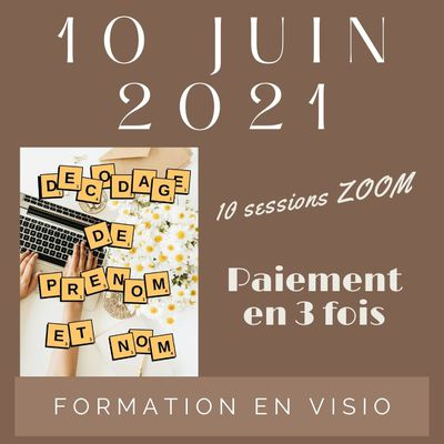 FORMATION AU DECODAGE DE NOM ET PRENOM - 10 sessions