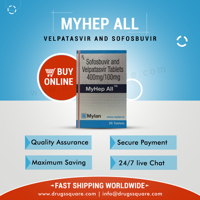 MyHep All Price - Buy Sofosbuvir and Velpatasvir Tablets Online From India