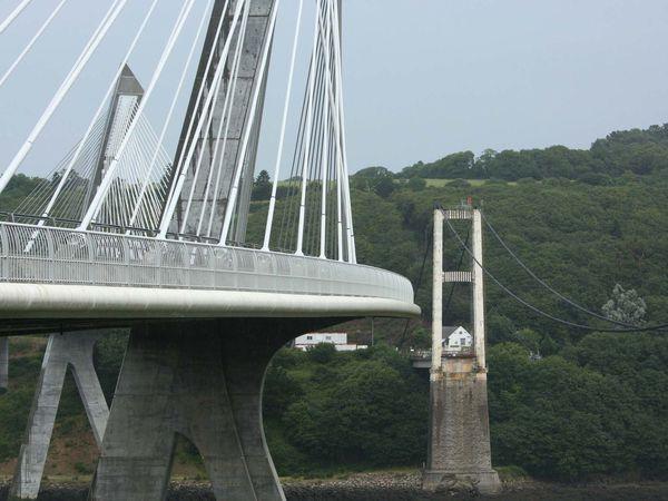 19 juillet 2014, l'ancien pont est en cours de démantèlement...