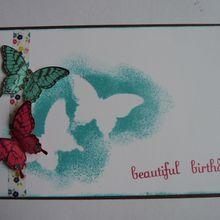 Carte beautiful birthday en SU