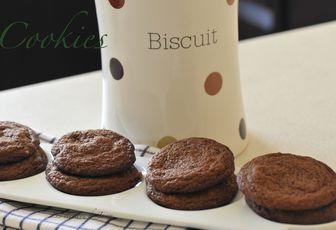 cookies chocolat et cranberrys