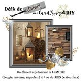 CS&DIY défi de JANVIER 2019 - Card Scrap and DIY, le blog de défis