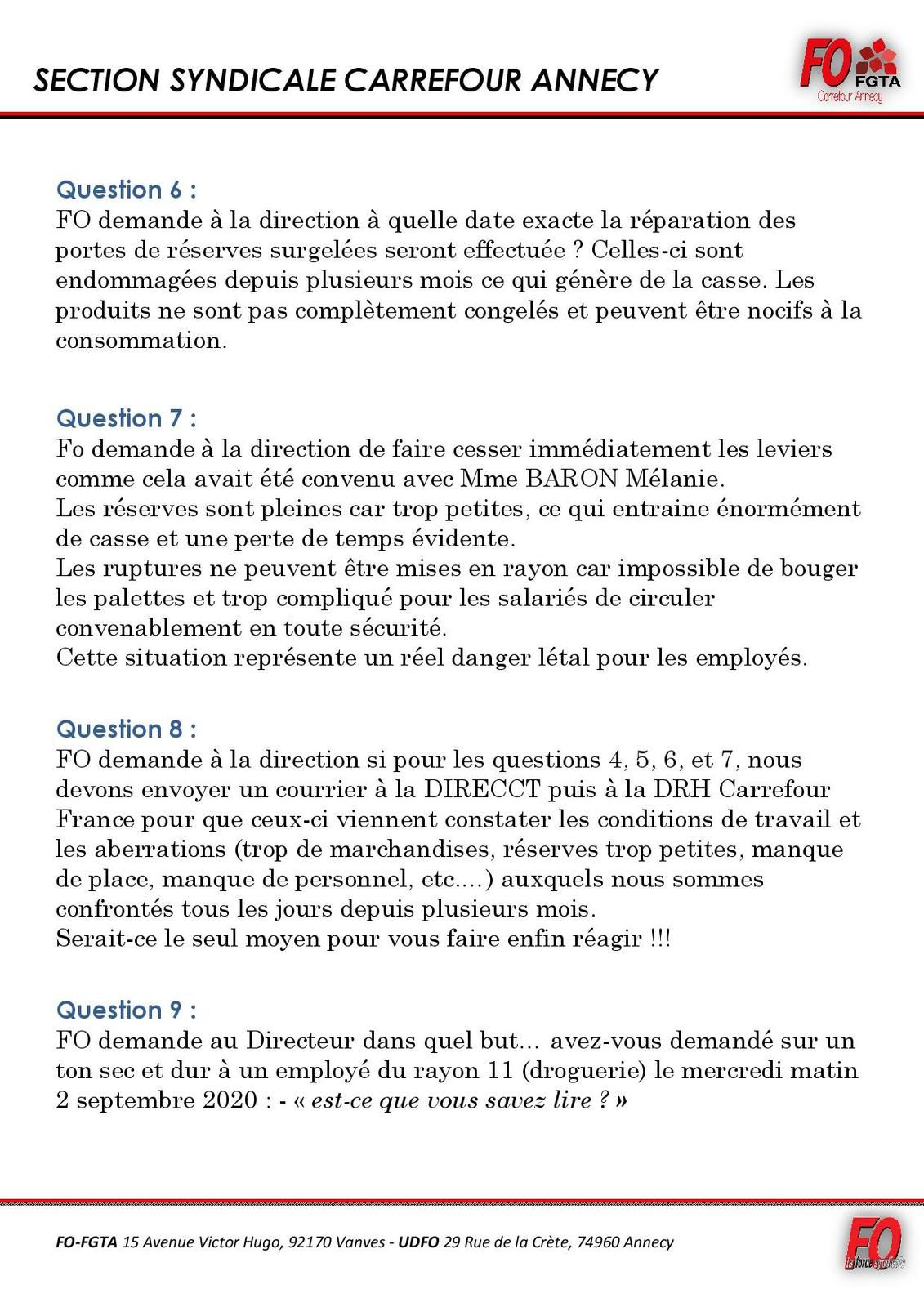 QUESTIONS DP DU MERCREDI 16 SEPTEMBRE 2020
