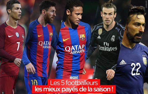 Les 5 footballeurs les mieux payés de la saison ! #business