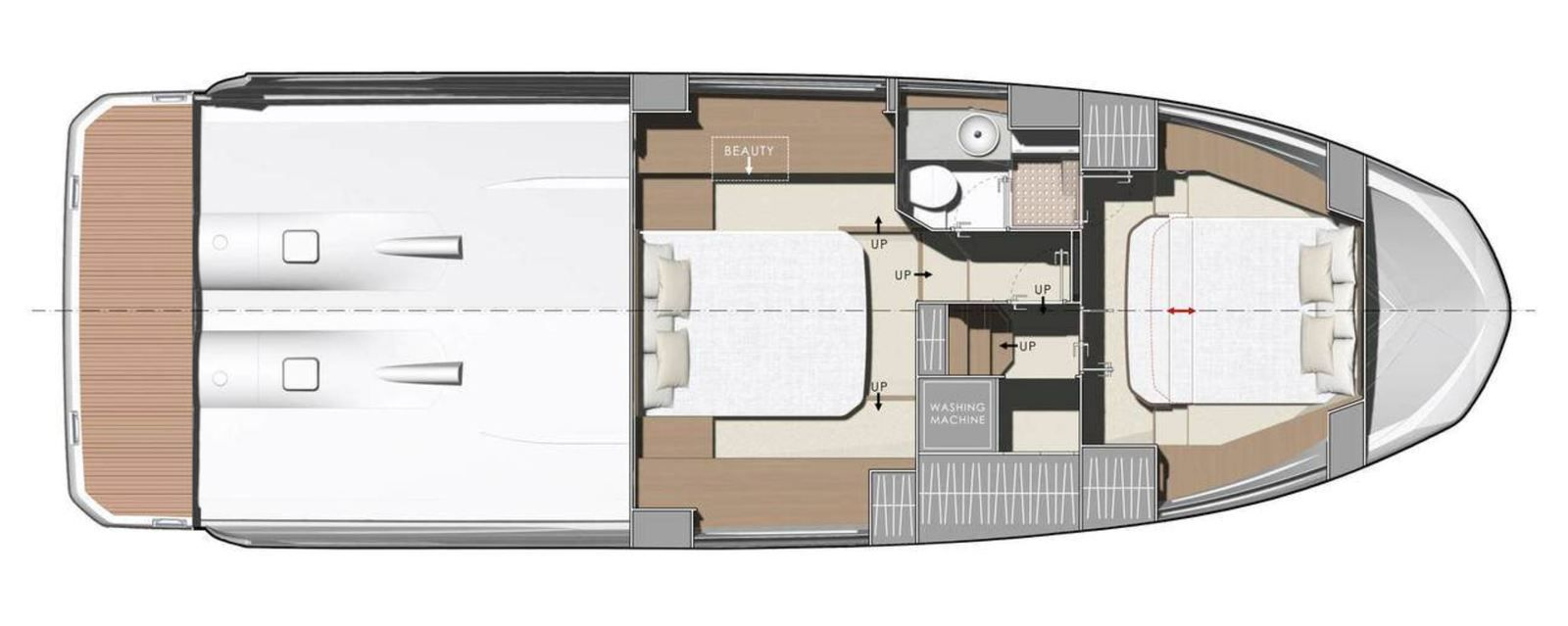 Layout of the Prestige 420