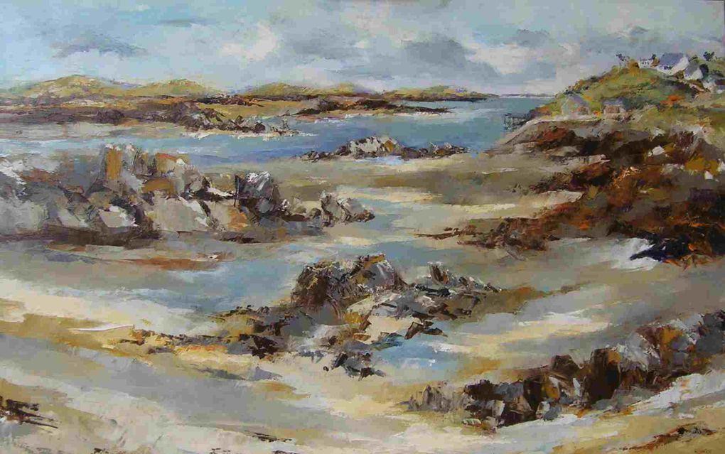 """Les """"Chausey"""" ont été réalisées sur le motif et on réalisées à l'huile sur toile...  copyright Olivier Lecourtois 2006-2011"""