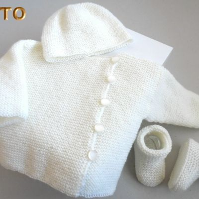 TUTO tricot bébé TROUSSEAU  bb