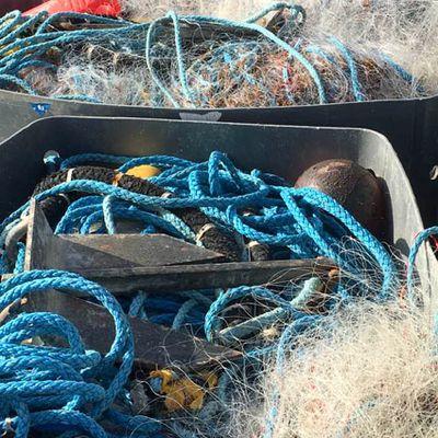 Diaporama: filets de pêcheurs sur le port de Sète