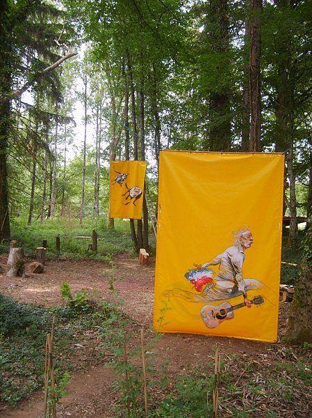 Exposition 2010 d'art in situ par l'association GRANDEUR NATURE
