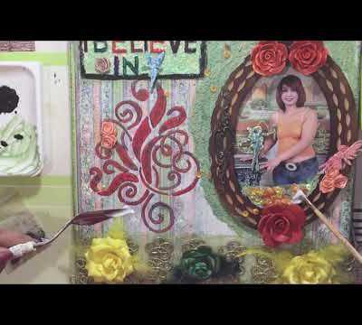 Fairy Mixed Media Canvas Tutorial by Fathia Nasr- Vidéo