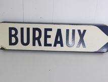 Plaque émaillée Bureaux Morez Girod 1967