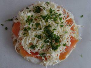 Blinis de saumon gratinés