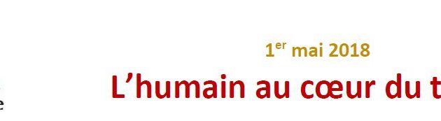 """1er mai 2018 """"L'humain au cœur du travail"""", le message de la Mission Ouvrière"""