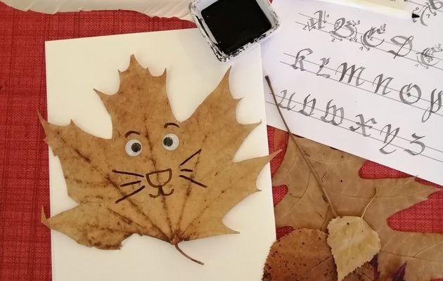Animations pour les enfants -  vacances de la Toussaint - La calligraphie en folie !