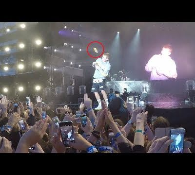 """Justin Bieber Pelted With a Water Bottle After Refusing to Sing """"Despacito"""""""