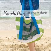Beach Bag Tutorial Easy Sewing